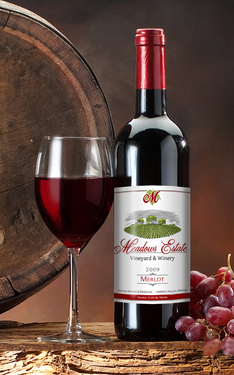 Meadows Estate Vineyard Oregon Winery Merlot