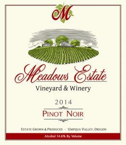 Shop Meadows Estate Wines Roseburg Oregon