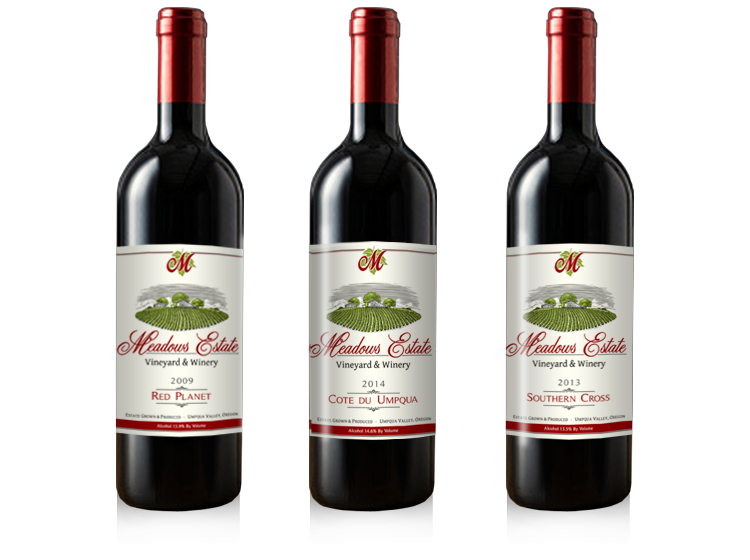 Meadows Estate Oregon Red Wines