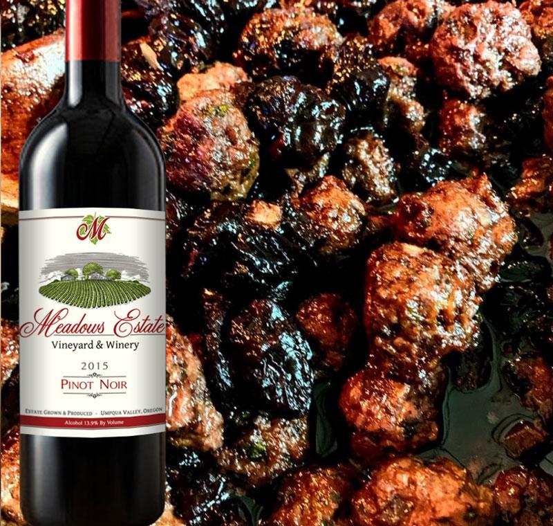 Oregon Wine Pinot Noir Meadows Estate