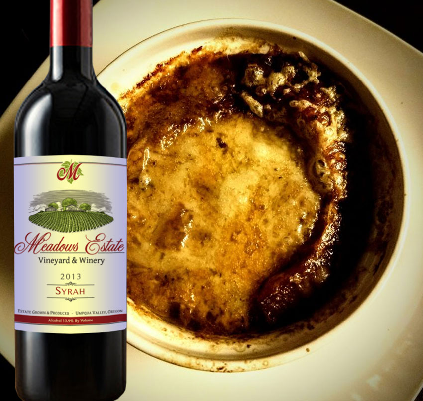 Meadows Estate Syrah Oregon Wine French Soup Recipe