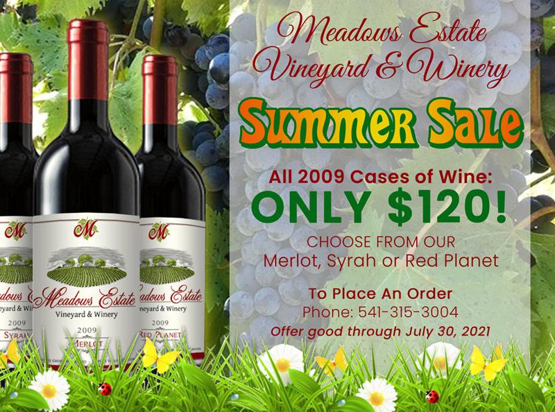 Oregon Red Wine Summer Sale