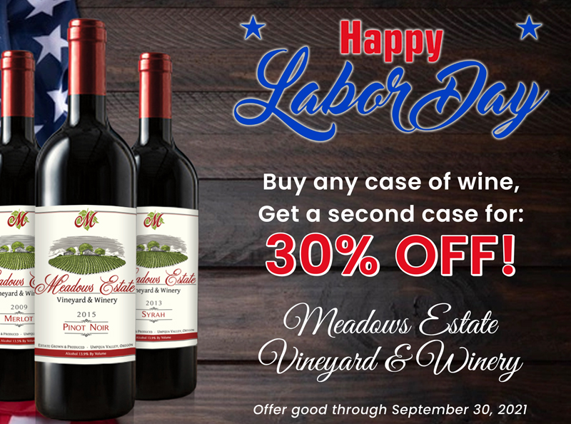 Meadows Estate Oregon Winery Pinot Noir Red Wine